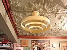 Deco Venetian Blind Saucer Saturn w/ Futuristic Look Light Fixture 4 rings  8795