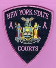 NEW YORK STATE COURT OFFICERS BREAST CANCER AWARENESS PATCH ~ AWESOME ~ L@@K