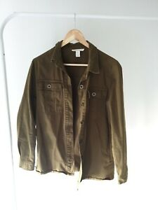 Forever 21 Khaki Green LS Button Up Shirt Size S