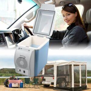 12v Car Travel Cool Box Portable Fridge Cooler Warmer 7.5L Refrigerator