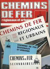 CHEMINS DE FER  RÉGIONAUX ET URBAINS (Revue de la FACS)