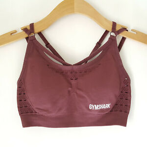 Gymshark Energy Seamless Sports Bra Mauve Purple Strappy M? L?