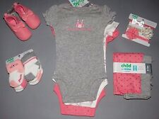 Baby girl clothes, 0-3 months, Carter's bodysuits,pants,socks,shoes, New Arrival