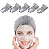 Adjustable Makeup Head Band Facial Hairband Shower Caps Toweling Hair Wrap
