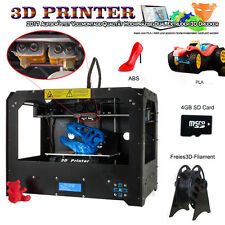 6CTC FDM - Black Makerbot Replicator 2 3D-Printer -2 Extruders + 1 PLA filament