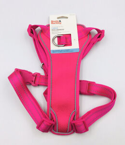Boots And Barkley Pink Reflective No Pull Large Adjustable Dog Harness