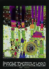 Hundertwasser Blue Blues grün Poster Kunstdruck Bild 84,1x59,4cm - Portofrei