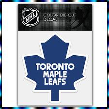 """Toronto Maple Leafs NHL Die Cut Vinyl Sticker Car Bumper Window 4""""x4"""""""