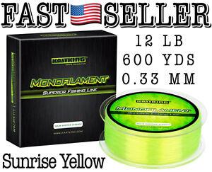 KastKing Premium Monofilament Fishing Line 600Yds 8lbs 0.25mm Clear Fishing Line