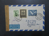 Switzerland 1951 Censored Airmail Cover to USA - Z8517
