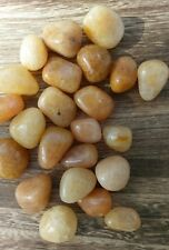 "Three (3) GOLDEN ""HEALER"" QUARTZ Tumbled Stones Lot Crystal Mineral Reiki"
