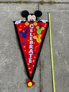 """Mickey Mouse Celebrate Banner 44"""" Tall"""