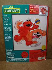 """Janlynn #68-43 Sesame Street Elmo Fetch! 12"""" x 11"""" Counted Cross Stitch New"""