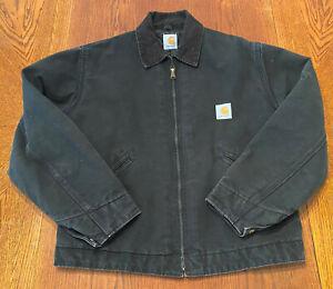 Vintage Carhartt Made in USA Detroit Trucker Duck Canvas Jacket, size XL