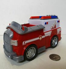 Nickelodeon Paw Patrol Marshall EMT Fire Vehicle Red Truck !!!