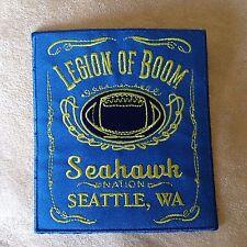 "4.5"" SEATTLE SEAHAWKS LEGION OF BOOM Nation Logo Iron-on Jersey/Jacket PATCH!"