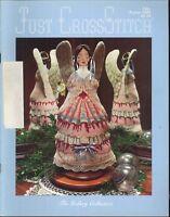 Just Cross Stitch Magazine July Aug 1985 Victorian Angel Gymnast Heart Ornament