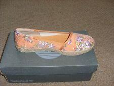 Para Mujer Timberland Casco Bay Albaricoque Naranja Florido Zapatillas Zapatos Talla 5.5.New