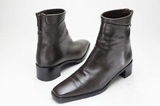 Stuart Weitzman 6 Brown Zip Ankle Boots Women's