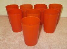 Set of 8 Vintage Orange Fiesta Go-Along Swanky Swigs Juice Glasses