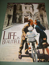 LIFE IS BEAUTIFUL (1998) US AUTHENTIC ORIGINAL 27x40 SS MOVIE POSTER (468)