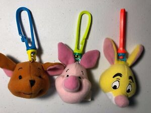 McDonalds Happy Meal Piglet Rabbit Roo plush clip keychain