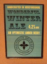 Beer pump badge clip MAYFIELDS brewery WONDERFUL WINTER ALE cask pumpclip front