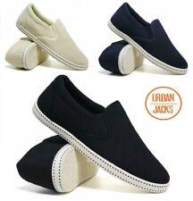 Mens Slip On Casual Canvas Espadrilles Plimsolls Pumps Shoes Size 7 8 9 10 11 12