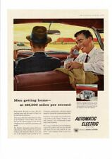 VINTAGE 1958 GENERAL TELEPHONE AUTOMATIC ELECTRIC ROTARY MOBILE PHONE AD PRINT