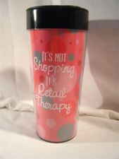 Betty Boop Shopping Collectible Travel Coffee Mug Cup Pink