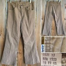 Vintage Levi's 684 Flare Leg Bell Bottoms Pants Corduroy 30 36 Measure 29 28 1/2