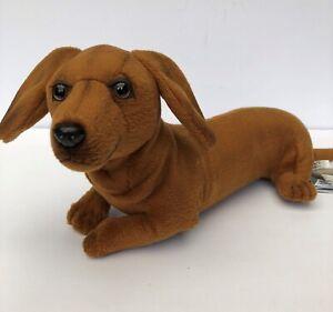 "Hansa Creations Dachshund ""Most Realistic' Plush Puppy NWT"