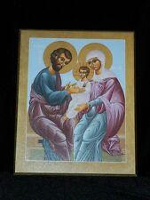 """JOSEPH & MARY PORTRAIT """"LA SAGRADA FAMILIA"""" ICON FATHER BILL McNICHOLS 8"""" x 10"""""""