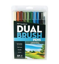 Great Price! TOMBOW ABT Dual Brush Pens Art Markers, Landscape Palette, #56169
