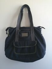 Lululemon Wool Tote Black Gray Green Big Gym Yoga Laptop Shoulder Bag Vintage