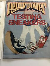 Vintage Penny Power Magazine April May 1983 Testing Sneakers Nike Adidas Poster