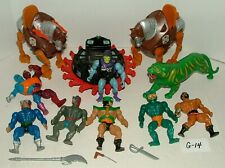 #1980s MATTEL HE-MAN MASTERS OF THE UNIVERSE FIGURES w STRIDOR & ROTON LOT#G14