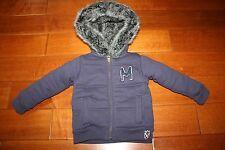 Zara Kids Toddler Thick Winter Jacket Hoodie Size 2T-3T Blue