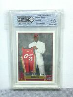 2003 Lebron James Topps RC 10 Gem Mint Centered  #221 Rookie *Maybe PSA 10
