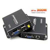 TESmart 60M 120M 300M Network HDMI VGA KVM Extender by CAT5e/6 TCP/IP 1080P