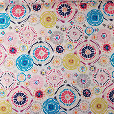 BTY Colorful Circle Medallion Print Fabric 100% Cotton Quilting 43 Wide