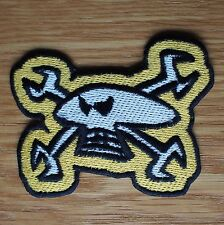 Motorcycle Biker Cloth Patch Cut Off Isle Of Man TT Guy Martin Skull & Spanners