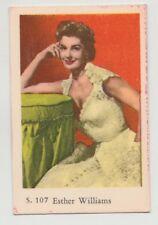 1957 VINTAGE DUTCH GUM S SET ESTHER WILLIAMS CARD #107 VG CONDITION