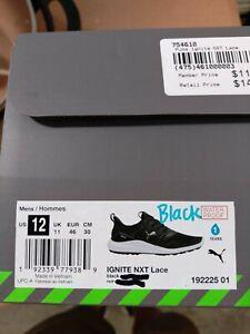 Puma ignite nxt lace black color size 12
