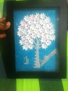 1ST Annivasary Handmade Photo Frame Paper Flowers Tree For Your Lover