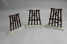 Elevated Pier Trestle Set 3 Pc Lot Railroad Train Gray Timbers More 4 Sale