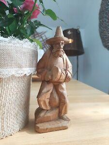 Holzfigur geschnitzt 19.5 cm Handarbeit