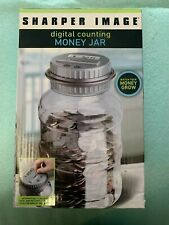 Sharper Image Electronic Digital Coin Counting Jar