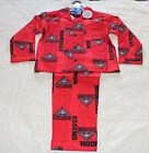 Essendon Bombers AFL Boys W16 Red Printed Flannel Pyjama Set Size 14 New