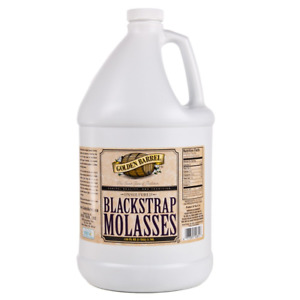 Golden Barrel Unsulfered Blackstrap Molasses 1 Gallon Jug